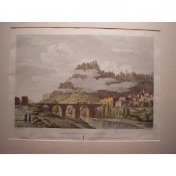 España. Cataluña. Barcelona. «Vista del puente de Monistrol y de la montaña de Montserrat» Alexandre Laborde (1810-11)