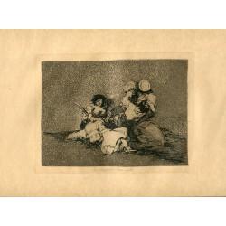 FRANCISCO DE GOYA «Las mujeres dan valor» Grabado original nº 4 de los Desastres de la guerra. Calcografía Nacional.