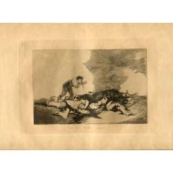 FRANCISCO DE GOYA «Para eso habeis nacido» Grabado original nº 12 de los Desastres de la guerra. Calcografía Nacional.
