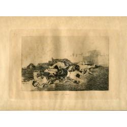 FRANCISCO DE GOYA «Tanto y mas» Grabado original nº 22 de los Desastres de la guerra. Calcografía Nacional.