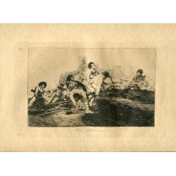 FRANCISCO DE GOYA «Aun podrán servir» Grabado original nº 24 de los Desastres de la guerra. Calcografía Nacional.