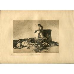 FRANCISCO DE GOYA «Cruel lastima!» Grabado original nº 48 de los Desastres de la guerra. Calcografía Nacional.