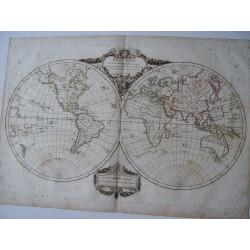 «Mappe Monde» por Robert Vaugondy – Delamarché Paris 1806