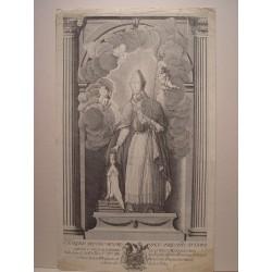 San Toribio Alfonso Mogrobejo, Arzobispo de Lima'. Grabado por de la Cuesta.