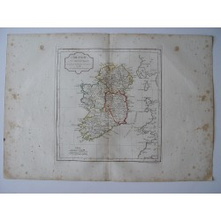 «L'Írlande» par Robert de Vaugondy –Delamarche