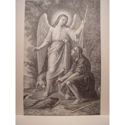 «Tobías y el ángel» (Probablemente es obra de Antonio Pascual Abad, Alcoy 1809-Valencia 1882)