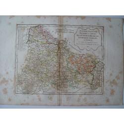 «Flandre Francoise, Picardie et Artois Isle de France» par Robert de Vaugondy-Delamarché 1806