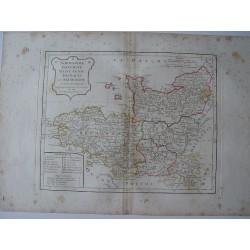 «Normandie, Bretagne, Maine Anjou, Touraine  et Saumurois» par Robert de Vaugondy-Delamarché 1806