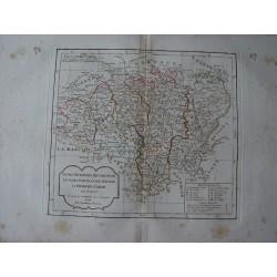 «Berri Nivernois, Bourbonois, Lyonois, Bourgogne, par Robert de Vaugondy-Delamarché.