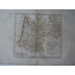 «Guienne et Gascogne, Basse Navarre et Bearn par Robert de Vaugondy-Delamarché 1800