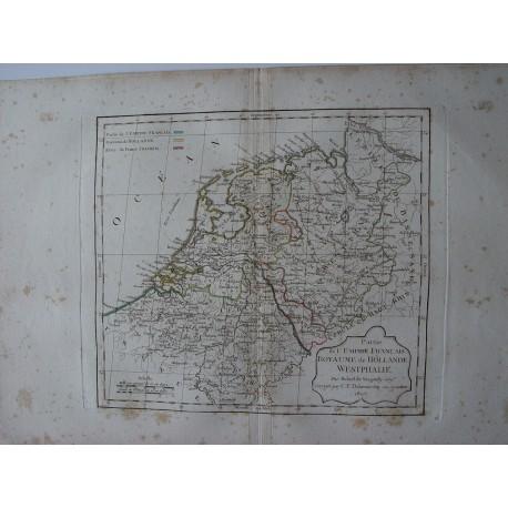 «Partie de lÈmpire Francais Royaume de Hollande Westphalie par Robert de Vaugondy-Delamarché 1800.