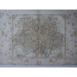 «Les Suisses et les Grisons» par Robert de Vaugondy-Delamarché 1800