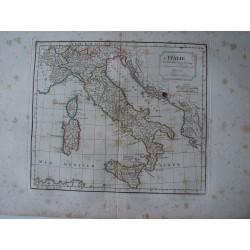«L'Italie» par Robert de Vaugondy-Delamarché 1800