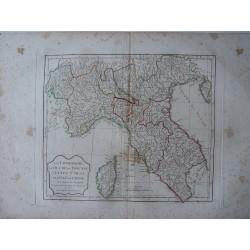 «La Lombardie le Duché de Toscane l»Etat  de St. Siege et l»Islede Corse par Robert de Vaugondy-Delamarché 1794