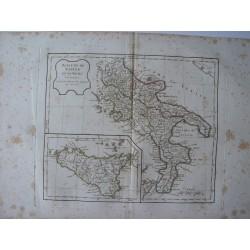 «Royaume de Naples et de Sicile» par Robert de Vaugondy» par Robert de Vaugondy-Delamarché 1800