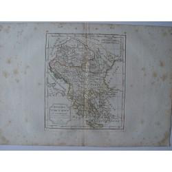 «Hongrie Turquie Europ» par Robert de Vaugondy-Delamarché 1800