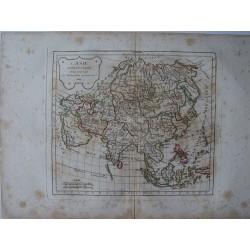 L'Asie» par Robert de Vaugondy-Delamarché 1804