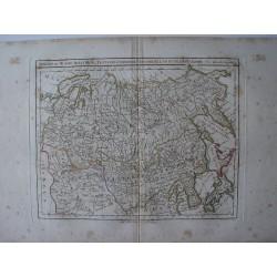 «Siberia ou Russia Asiatique, Tartarie Chinoise, Pays des Fluts et Isles du Japon par Robert Vaugondy-Delamarché.