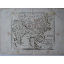 «Indostan presqu»Isles d l'Inde, Chine, Tartarie Independante par Robert de Vaugondy-Delamarché 1806