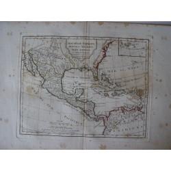 Nouvelle Espagne, Nouvelle Mexique, Isles Antilles par Robert de Vaugondy-Delamarché