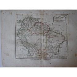 «Terre-Ferme, Perou, Brasil, Pays de l'Amazone par Robert de Vaugondy-Delamarché
