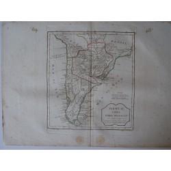 «Paraguay, Chill, Terre Maguellan par Robert de Vaugondy-Delamarché
