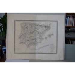 L. Vivien «Carte de la Peninsule Hispanique 1824. Grabado por Giraldon-Bovinet