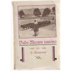 Vade Mecum taurino por J. Monserrat  1932