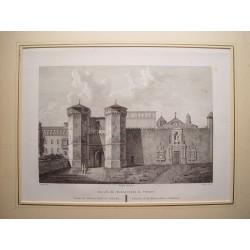 España. Cataluña. Tarragona. «Entrada del Monasterio del Poblet» Alexandre Laborde 1810-11)
