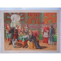 Cristobal Colón ante los Reyes Católicos