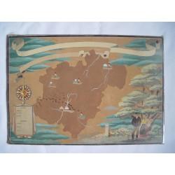 Mapa antiguo  posiblemente de Navarra Acuarela