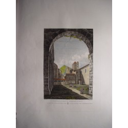 España. Cataluña. Tarragona  «Vista de los patios del Monasterio del Poblet» Alexandre Laborde (1810-11)