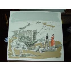 Agustín Redondela . Litografia  firmada a mano por el artista.