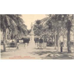 Antigua postal Alicante Monumento a los Martires de la Libertad