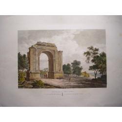 España. Cataluña. Tarragona. «Vista panorámica del Arco de Bara» Alexandre Laborde (1810-11).