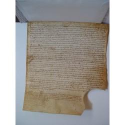 Documento notarial del siglo XVI sobre pergamino