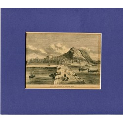 Grabado original de Alicante revista inglesa siglo XIX