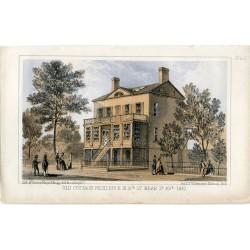 «Old cottage residence in 16th St. Near 3ª Av. 1861»Litografia de Sarony Major en 1862