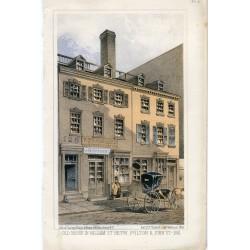 «Old house in William St.Betw Fulton &John St. 1861» Litografia por Sarony Major 1861