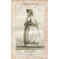 «Miss Ann Batley» engraving  publicado por Hogg en 1805 del libro Wonderful Museum