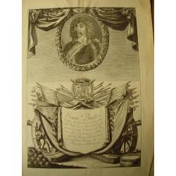 «Jean Baptiste Budes, comte de Guebriant» engraving by J. Frosne (1621-1686)