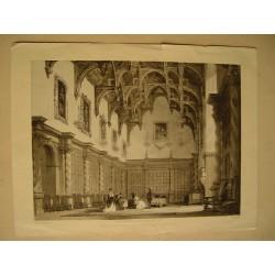 «Burleigh Great Hall Northamptonshire» litografia por T. Allom en 1847