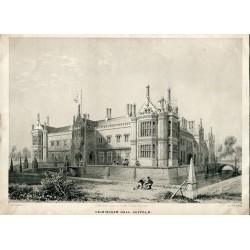 «Helmingham Hall, Suffolk» litografia por J.D. Harding