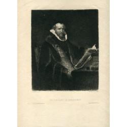 «Un portrait de Rembrandt» grabado por Fleming