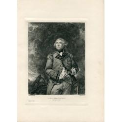 «Lord Heathfield» grabado por P.Adolphe Rajon(1842-1888) sobre obra de Reynolds