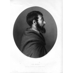 «The monk» grabado porJ.C. Armytage sobre obra de E.V.Rippingille