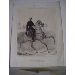 «Excmo. D. Leopoldo O' Donell conde de Lucena» 1859 litografia militar