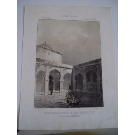 «Patio de la mezquita de Tetuan hoy dia iglesia de Nª Sra. De las Victorias»
