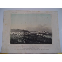 «Vista general de la ciudad de Tetuan sierra de la Corona y llanura desde la Aduana hasta el Campamento moro» 1860