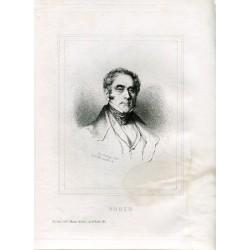 Retrato Daniel F. Auber grabado por Edmund Hedouin